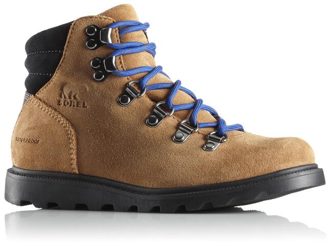 Sorel Youth Madson Hiker Waterproof Shoes Camel Brown/Black
